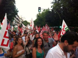 Demonstration der UGT und CCOO in Marbella
